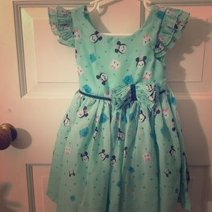 Disney Minnie Mouse teal party dress 2t